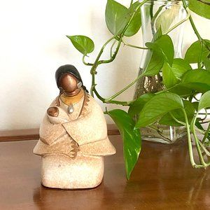 Native American Mother with papoose Figurine